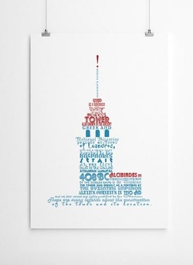Kız Kulesi Tarihi Poster-Fabl